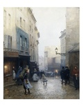 A Street Market, Paris, France Giclee Print by Victor Gabriel Gilbert