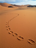Footprints in sand Photographic Print by Frans Lemmens