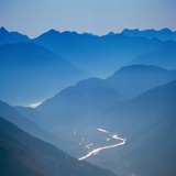 Mist in Mountains near Lake Tegern, Germany Photographic Print by Gerolf Kalt