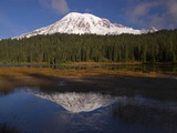 Mount Rainier and Reflection Lake Photographic Print by Craig Tuttle