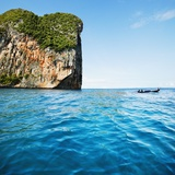 Phang-Nga Bay Island with Mountains Photographic Print by JoSon 