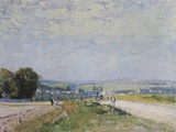 The Road to Montbuisson at Louveciennes Photographic Print by Alfred Sisley