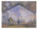 La Gare Saint-Lazare Giclee Print by Claude Monet