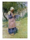 A Little Breton Maid Premium Giclee Print by Hugh Bellingham Smith