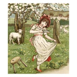 Little Miss Muffet Giclee Print by Kate Greenaway