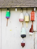 Lobster Buoys on Hut Photographic Print by Tom Grill