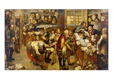 The Collector of Tithes Reproduction procédé giclée par Pieter Bruegel the Younger