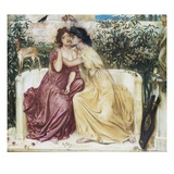 Sappho and Erinna in the Garden Mytelene Giclee Print by Simeon Solomon