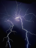 Lightning at Night Photographic Print by Jim Zuckerman