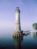 Harbour entrance with lighthouse of Lindau at the Lake Constance (Bavaria, Germany) Photographic Print by José Fuste Raga