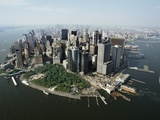 Manhattan's Financial District Fotografie-Druck von David Jay Zimmerman