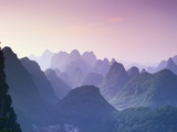 Mountains in Guangxi Province, China Photographic Print by Frank Lukasseck