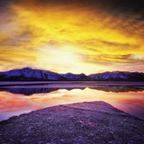 USA, California, Lake Tahoe at sunset Photographic Print by  JoSon