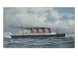 S.S. Lusitania Giclee Print by Antonio Jacobsen