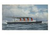 S.S. Lusitania Giclee Print by Antonio Jacobsen