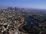 Downtown Los Angeles and MacArthur Park Fotografie-Druck von Bill Varie