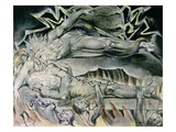 Job's Evil Dreams from The Book of Job Giclée-Druck von William Blake