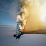 Eruption of Grimsfjall Volcano Photographic Print