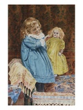 Playing Mother Premium Giclee Print by Edward H. Fitchew