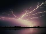 Bolts of Lightning Fotografisk tryk af Walter Hodges