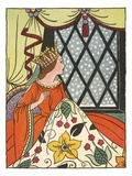 Book Illustration of the Queen in the Ebony Window by Bess Livings Reproduction procédé giclée