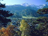 Garmisch Partenkirchen with Zugspitze (Bavaria, Germany) Photographic Print by Werner H.Mueller