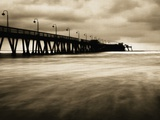 Pier on Imperial Beach, California, USA Fotografie-Druck von Steven Vote