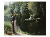 Boating Giclee Print by Leopold-Francois Kowalsky