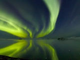 Aurora Borealis over Lake Thorisvatn Photographic Print