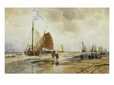 Beach at Schevingen, Holland Giclee Print by Thomas Hardy Bush