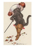 Illustration of Puss in Boots by Eulalie Reproduction procédé giclée
