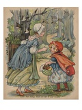 Little Red Riding Hood Sets Out to Visit Granny Giclee Print