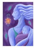 Mor och barn Gicleetryck av Vicky Emptage