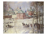 The Kremlin, Moscow, Russia, in Winter Giclee Print by Frederick William Jackson