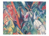 In the Rain Giclee Print by Franz Marc