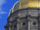 Dome of Georgia State Capitol Photographic Print by William Manning