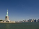 Statue of Liberty, Liberty Island and New York Skyline Photographic Print by Tom Grill
