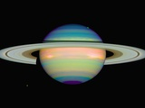 Infrared View of Saturn Photographic Print