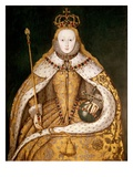 Queen Elizabeth I in Coronation Robes Giclee Print by English School Painting