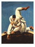 Martial Artists Competing Giclee Print