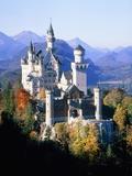 Neuschwanstein Castle in autumn, Bavaria, Germany Fotografisk tryk af Herbert Spichtinger