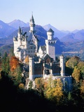 Neuschwanstein Castle in autumn, Bavaria, Photographic Print