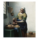 The Milkmaid Reproduction procédé giclée par Jan Vermeer