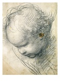 Head of a Cherub Giclee Print by  Raphael