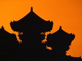 Silhouette of Japanese Temple Photographic Print by Charles O'Rear