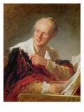 Denis Diderot Reproduction procédé giclée par Jean Honore Fragonard