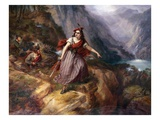 Helen MacGregor in the Conflict at the Pass of Loch Ard Giclee Print by Siegfried Detlev Bendixen