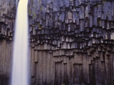 Iceland, Skaftafjell National Park, Svartifoss Waterfall Photographic Print by W. Krecichwost