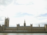 Houses of Parliament on the Thames Fotografie-Druck von David Vintiner