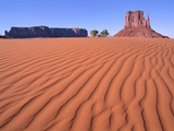 Butte in desert, Monument Valley, Arizona, USA Photographic Print by Theo Allofs